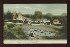 Hampshire Hants NEW FOREST Emery Down dried village pond 1907 PPC by F Stuart