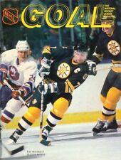 Dec. 29, 1987 Pittsburgh Penguins vs Boston Bruins Game Program Ray Bourque Rare