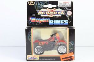 Vintage Rare SUPER BIKES MOTOCROSS 490cc Motorcycle Toy 3'' MOTORMAX Collection