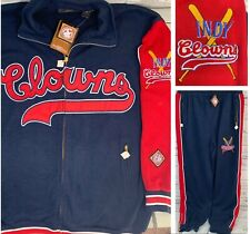 NLBM Negro Baseball Leagues Indianapolis Jacket & Sweatpants Men XL Oversized