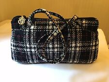 Vera Bradley Limited Edition Red/black/white Plaid Tweed East/west Bag Purse