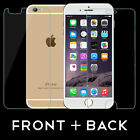 "FRONT AND BACK Tempered Glass Screen Protector Guard for iPhone 6 4.7"" 6S Plus"