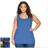 NEW NIC+ZOE Mosaic Blue Plus Size Perfect Scoop Neck Tank Top PLUS SIZE 3X