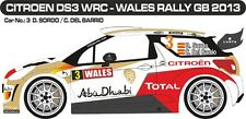 DECALS 1/43 CITROËN DS3 WRC #3 - SORDO - RALLYE WALES GB 2013 -MF-ZONE D43290