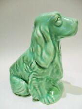 Mint Green Shawnee American Art Pottery Cocker Spaniel Dog Planter Vintage