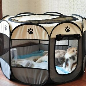 Portable Folding Pet Tent Dog House Octagonal Cage For Cat Tent Playpen Soft