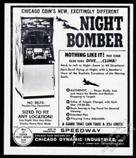 1971 Chicago Coin Night Bomber coin-op arcade game machine photo trade print ad