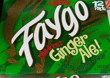 FAYGO GINGER ALE SODA 12 PACK CANS FREE SHIPPING AND TRACKING FAST HANDLING!!!
