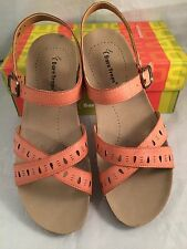 Womens BARE TRAPS Hendy Peachy Brown Sandals Adjustable Strap Sz 11M 11 M NIB