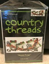 Country Threads Green Frogs Counted Cross Stitch Kit #Fj-1010 Fiona Jude