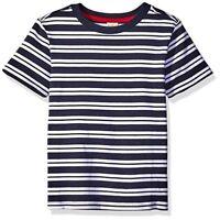 Scout + Ro Boys' Short Sleeve Stripe Tee Shirt Swim Navy Blue Size 8