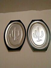 2 Nordic Ware Aluminum Serv A Sizzle Steak Plates w/ Tray Metal Serving Platter