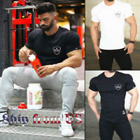 Gym Workout Training T-Shirt Bodybuilding Muscle Shaper Sport Fitness Active Tee