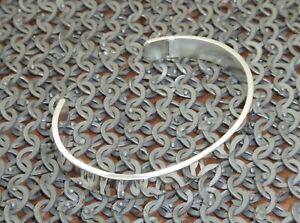 "Men's/Gents Solid Sterling 925 Hallmarked Silver ""Polished"" Torque Bangle"