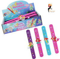 MERMAID SLAP BANDS Girls Wrist Snap Party Bag Filler Toy Magical Birthday Gift
