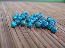 24 Perle Malachite Verde perline Burattate 6mm x Collane Bracciali Bigiotteria