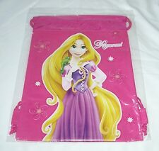 Hot Pink Rapunzel Disney Tango Licensed Child Drawstring Backpack Sling Tote Bag