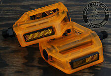"Orange Iped Platform Bicycle Pedals 9/16""  BMX MTB FiXiE Track Road Bike Cruiser"