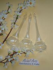 3 Stk große Glas Tropfen Ø 6 cm 18 cm lang aus Lauscha Glas mundgeblasen * NEU*
