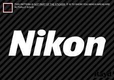 (2x) Nikon Sticker Die Cut Decal Self Adhesive Vinyl camera