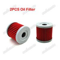 2x Oil Filter For ARCTIC CAT DVX400 TS KAWASAKI KFX400 KLX400SR Dirt Motor Bike