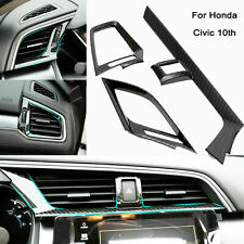 Carbon Fiber Pattern Dashboard Air Vent Cover For Honda Civic 2016-2019