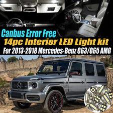 14Pc Error Free White Interior LED Light Kit for 13-18 Mercedes-Benz G63/65AMG
