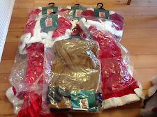 WHOLESALE JOB LOT XMAS FANCY DRESS COSTUMES, LADY SANTA,CHILD REINDEER MANS COAT