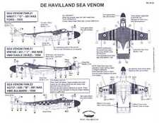 Berna Decals 1/48 DE HAVILLAND SEA VENOM British Carrier Fighter