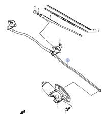 New Genuine Suzuki Carry Van 1.3 frente mecanismo de vinculación Del Limpiaparabrisas VARILLAS 38102-78A00