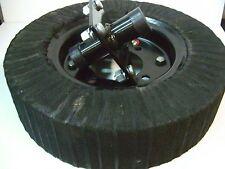 """Tail Wheel & Hub Assembly Bush Hog 15"""" Wheel +4 Bolt Hub 1"""" Shaft Rotary Cutter"""