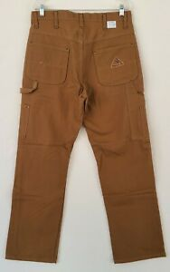 Bulwark FR flame Resistant Brown Carpenter Pants Size 34/32 NWOT