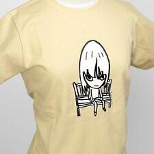 Yoshitomo Nara Art T-shirt [Bench] Natural Small size Unisex F/S from Japan
