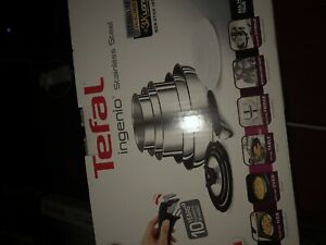 Tefal Ingenio Pots and Pans Set, Stainless Steel, 13-Piece, Induction