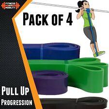 Progressione pull-up bande di resistenza confezione 4 FASCE Loop Fitness Yoga Palestra di casa UK
