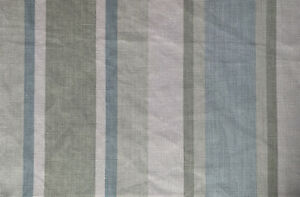 "12x16"" cushion cover in Laura Ashley Awning stripe Pistachio, Austen reverse"