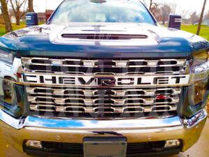 2020-2022 Chevy Silverado 2500 HD chrome grille insert grill overlay LT WT Cust