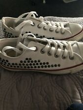 White Studded Converse All Star 6.5