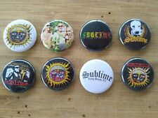 "8 1"" Sublime pinback badges buttons"