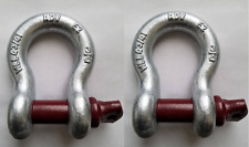 """3/4"""" Shackle Recovery D Ring Shackles JEEP OFF ROAD 4x4 Towing Cable Chain 2 pcs"""