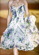 NEW Roberto Cavalli RUNWAY Corset Dress Floral Purple Green Rare 40 4