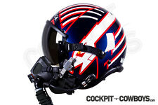 TOP GUN (2) movie accurate professional MAVERICK HGU-55 flight helmet decal set