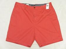 """$55 NWT NEW Mens Nautica Classic Fit Flat Twill 8.5"""" Deck Shorts Red Sz 38 N090"""