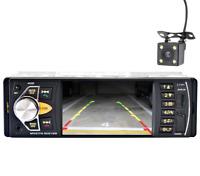 4.1'' 1 DIN BLUETOOTH AUTORADIO COCHE MP3 MP5 REPRODUCTOR USB AUX FM TF + Cámara