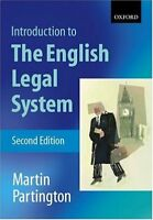 Introduction to the English Legal System,Martin Partington- 9780199260577