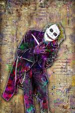Heath Ledger Joker 24x36in Poster The Dark Knight Batman Print Free Shipping Us