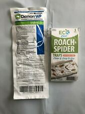 Demon Wp insect killer insect spray & roach spider glue traps (1pk) New(3traps)