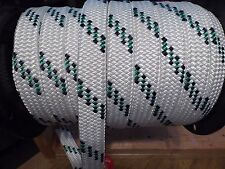 """1.5"""" x 100 ft. hollow/flat braid polyester rope.100 ft.High Quality.Made in USA"""