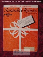 Saturday Review December 25 1954 NELLIE MELBA JOHN BROWNLEE RUMER GODDEN