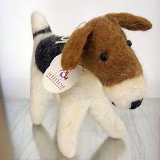 Juguete Fox Terrier Decoración Figura: Fieltro De Lana Fairtrade Perro-Estilo Vintage De Regalo